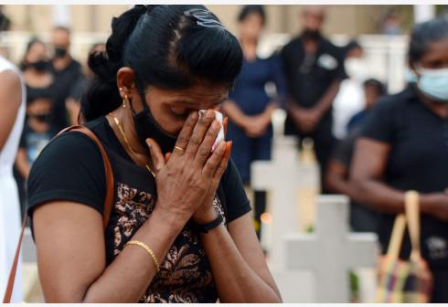 斯里兰卡举行连环恐怖袭击事件两周年纪念活动
