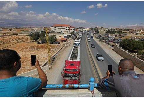 黎巴嫩进口的伊朗燃油运抵贝卡地区
